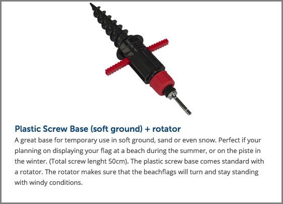 Plastic Screw Base (soft ground) + rotator copy - Signwest