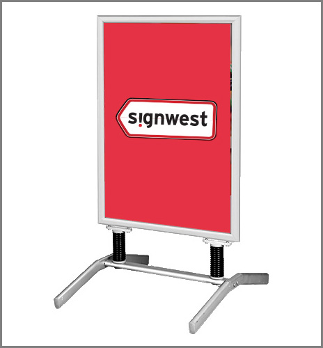 Signwest Sign Suppliers Ireland Swing Base Pavement Sign